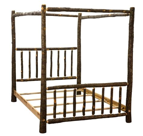 rustic canopy bed amish rustic hickory canopy bed