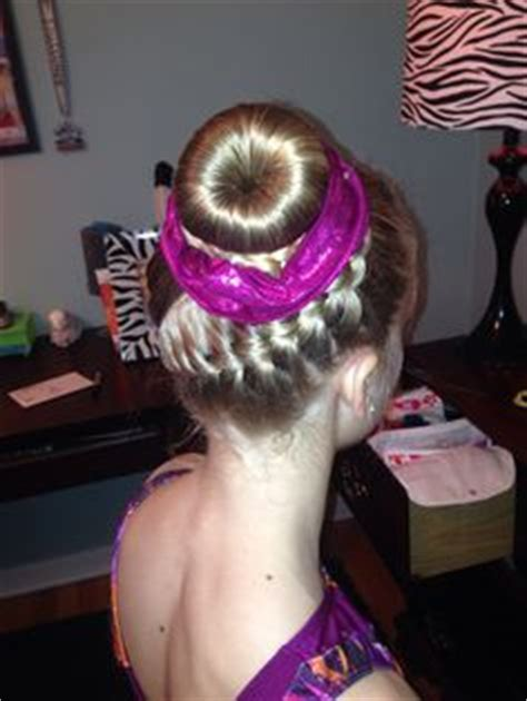 hairstyles for a gymnastics competition gymnastics hairstyle pineapple hairstyles pinterest