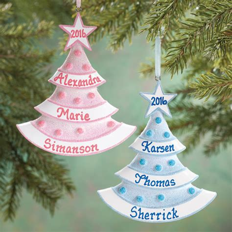 baby tree ornaments personalized baby glitter tree ornament ornament