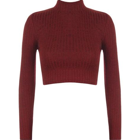 Turtle Neck Ribbed Top best 25 turtleneck crop top ideas on