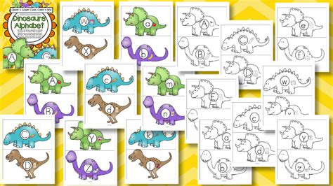 printable dinosaur alphabet flash cards dinosaurs alphabet