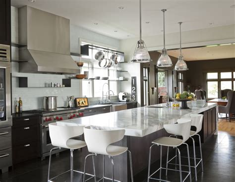 Long Kitchen Island | long kitchen island transitional kitchen cococozy
