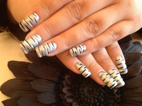acrylic painting nails 24 silver acrylic nail designs ideas design trends
