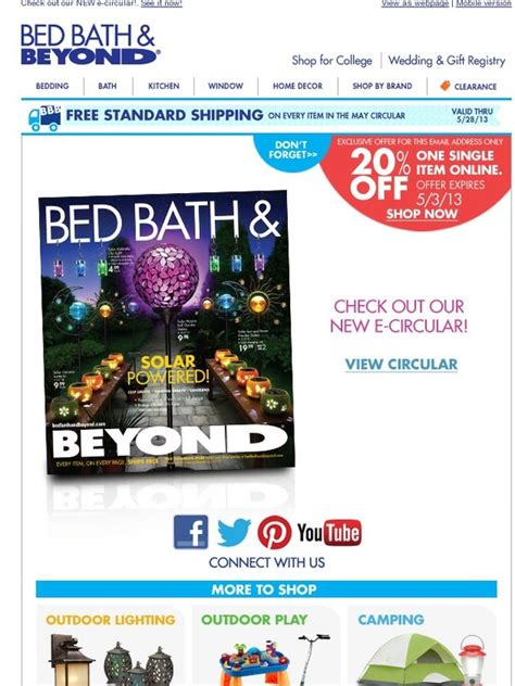 bed bath and beyond subsidiaries bed bath and beyond hurry your 20 off online offer will