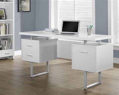 monarch specialties hollow desk monarch specialties white hollow silver metal office
