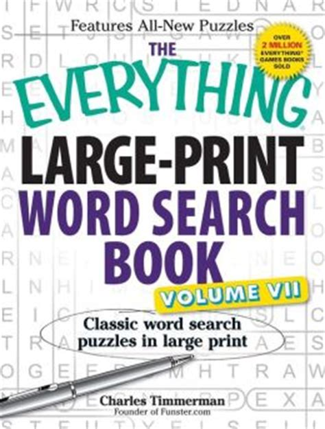 1 classic word search puzzles for youngsters and senior citizens volume 1 books the everything large print word search book volume vii