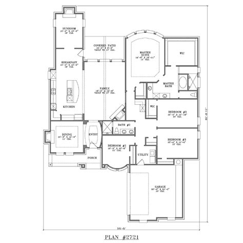House Plans 4 Bedrooms One Floor House Plan 2721 Web Floor Plans
