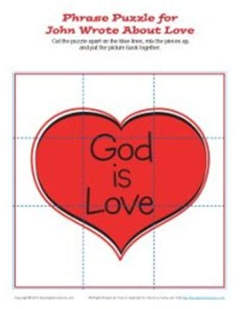 Free Printable Bible Jigsaw Puzzles | john wrote about love jigsaw puzzle bible activities for