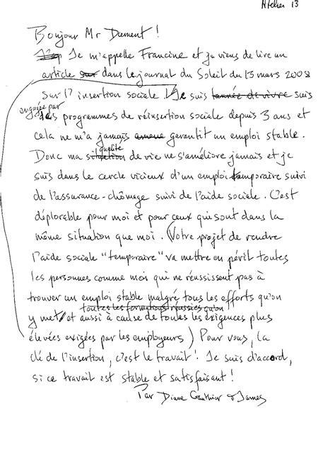 Lettre D Opinion Exemple Exemple De Lettre D Opinion