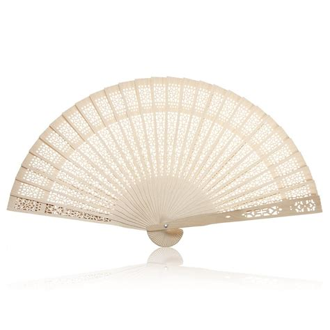 summer folding bamboo wooden carved fan wedding