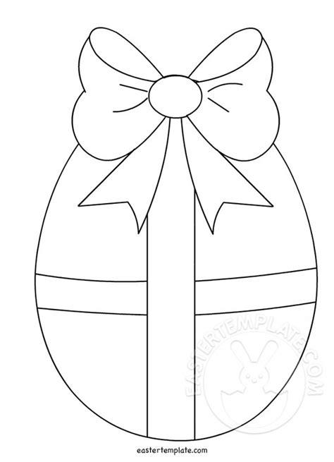 easter egg shaped card template easter egg with bow template easter template