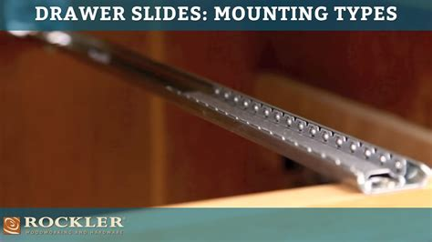 Center Mount Drawer Slide Installation by Drawer Slide Tutorial Mounting Types