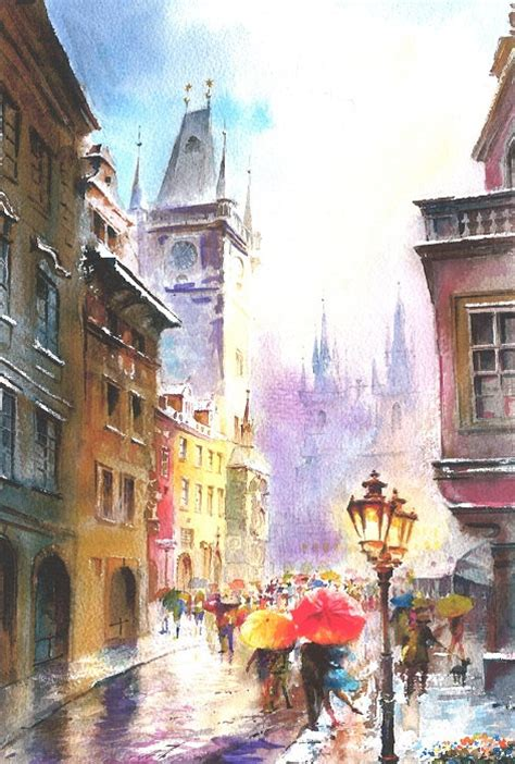 watercolor tutorial city pics for gt cityscape watercolor painting