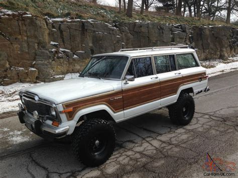 jeep wagoneer lifted jeep grand wagoneer 4x4 rebuilt motor super clean 6 quot lift