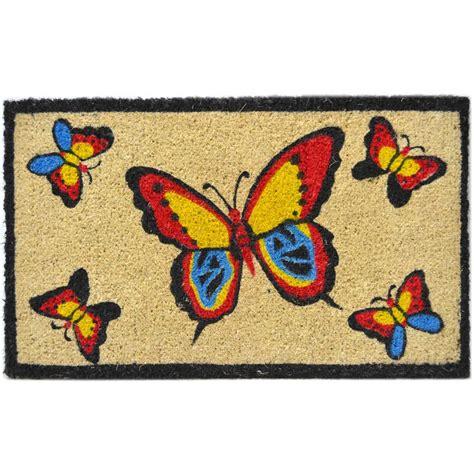 Butterfly Doormat - coir doormat butterfly in doormats