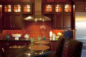 Backsplash Rock - kitchen fantastic exposed brick wall kitchen ideas with brown varnished wood island kitchen