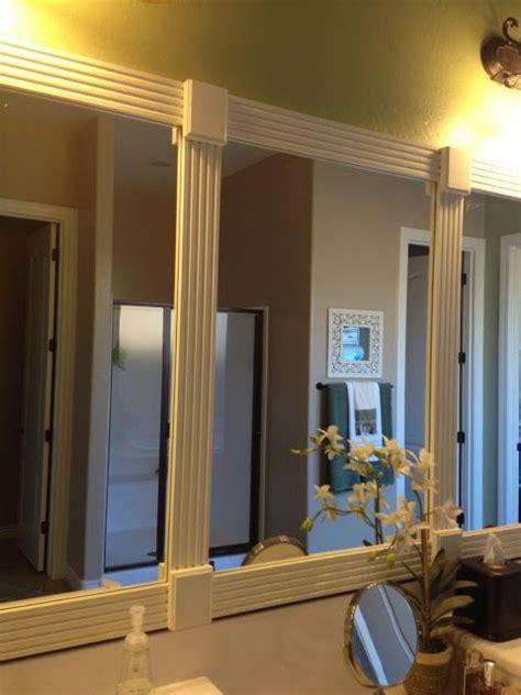 bathroom mirror trim using trim to frame bathroom mirror for the home pinterest