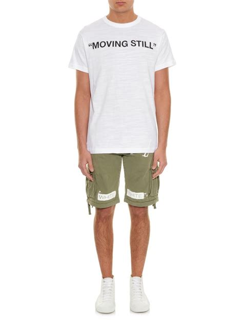 Tshirt Still Movin white c o virgil abloh moving still printed jersey t shirt in white for lyst