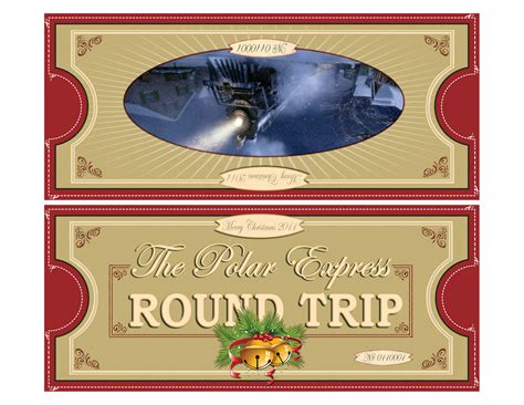 polar express tickets fold 8 5x11 free printable polar