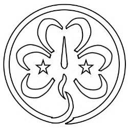 Guide Trefoil Outline by Guiding Uk World Badge
