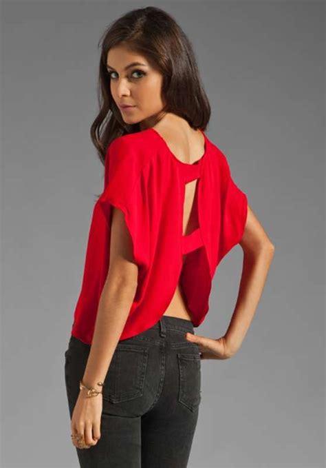 imagenes de blusas rojas blusas de moda casual elegante con escote en la espalda