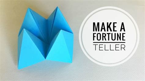 How Do You Make Paper Fortune Teller - how to make paper fortune tellers inner child