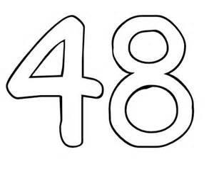 number 48 colouring pages