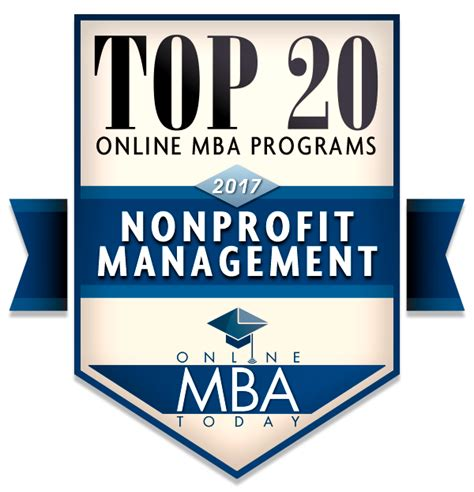 Mba In Nonprofit by Top 20 Mba Programs In Nonprofit Management 2017