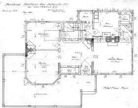 Floor Plan Drawing Residence Montford Ave For Lon Mitchell Esq First