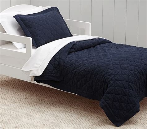 navy toddler bedding belgian flax linen toddler bedding navy pottery barn kids