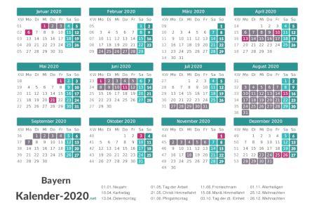 ferien bayern  ferienkalender uebersicht