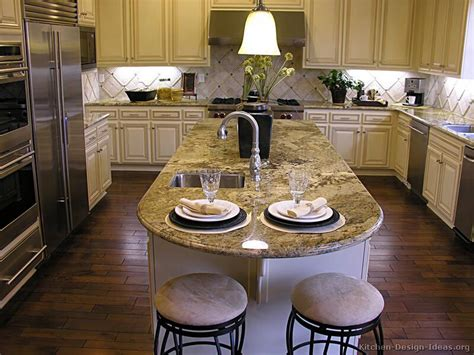 granite kitchen island with seating pictures of kitchens traditional white antique