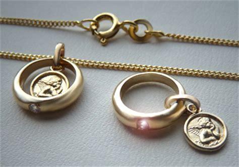 Gold Double Polieren by 1 Baby Taufring Mit Schutzengel Gold 375 Double Kette Ebay