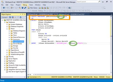 sql server 2016 create a stored procedure