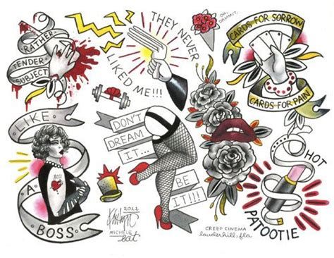 rocky horror picture show tattoo rocky horror picture show flash sheet by kristyn