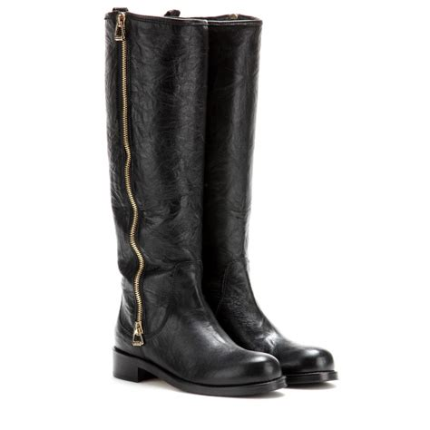 jimmy choo boots lyst jimmy choo doreen leather boots in black