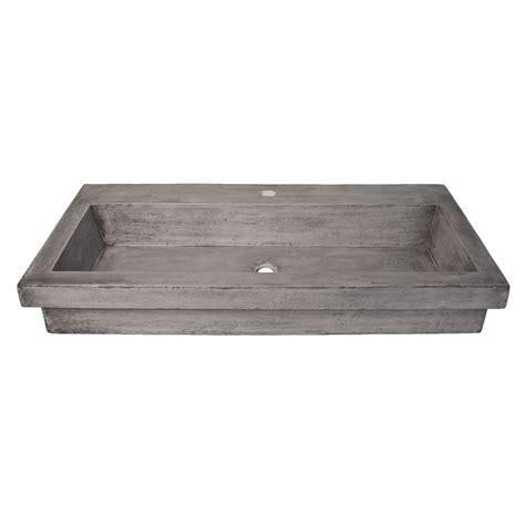 trails trough sink trough 3619 nativestone 174 rectangular bathroom sink