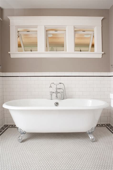 traditional bathtub did you use off white subway tiles on the wall to
