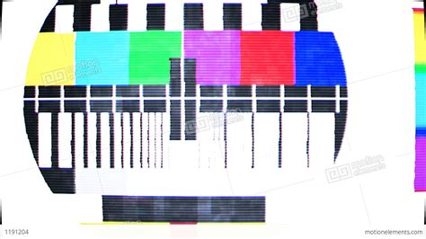 test pattern sound effect tv test screen with color bars stock animation 1191204