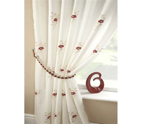 red embroidered curtains pearls embroidered voile lined curtains red