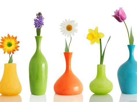 colorful jars beautiful 3d colorful jars with flowers wallpaper