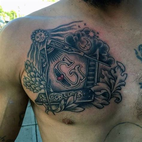 freemason tattoo 90 masonic tattoos for freemasonry ink designs