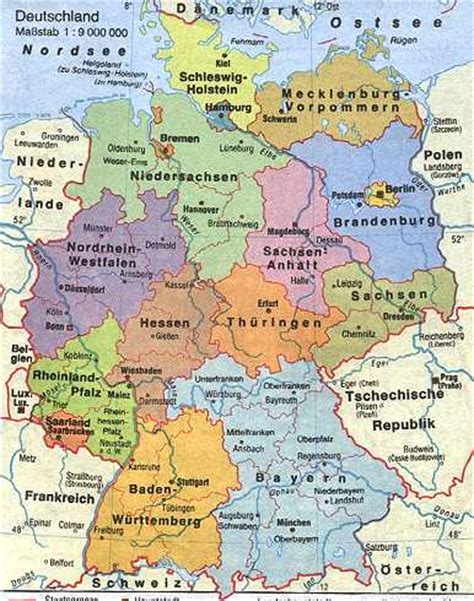 germany country map germany country sights and cultural features