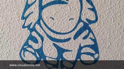 decorar pared de gotele instalaci 211 n de vinilos decorativos sobre gotele youtube