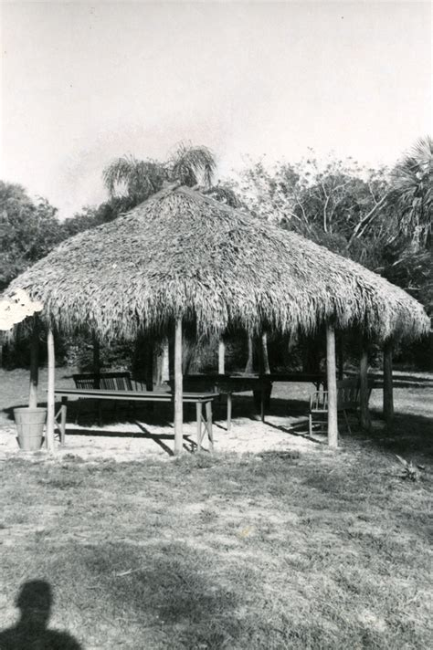 Chiki Hut Florida Memory Chickee Hut On The Koreshan Unity Grounds