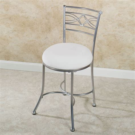 bathroom vanity seat white vanity stool safavieh white poly cotton