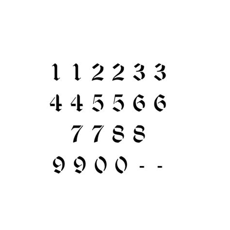 printable old english numbers 9 best images of old english number stencils printable