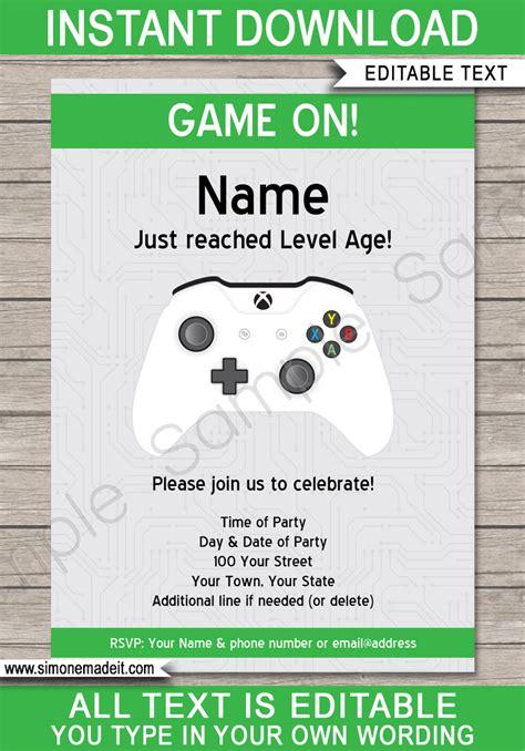xbox gift card template xbox invitations template invite