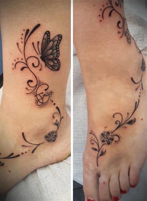 papillon tattoo tatouage papillon arabesque cheville tatoo 3