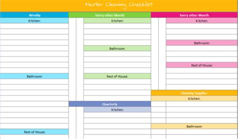 organizing schedule template 20 free printables to organize everything in your home